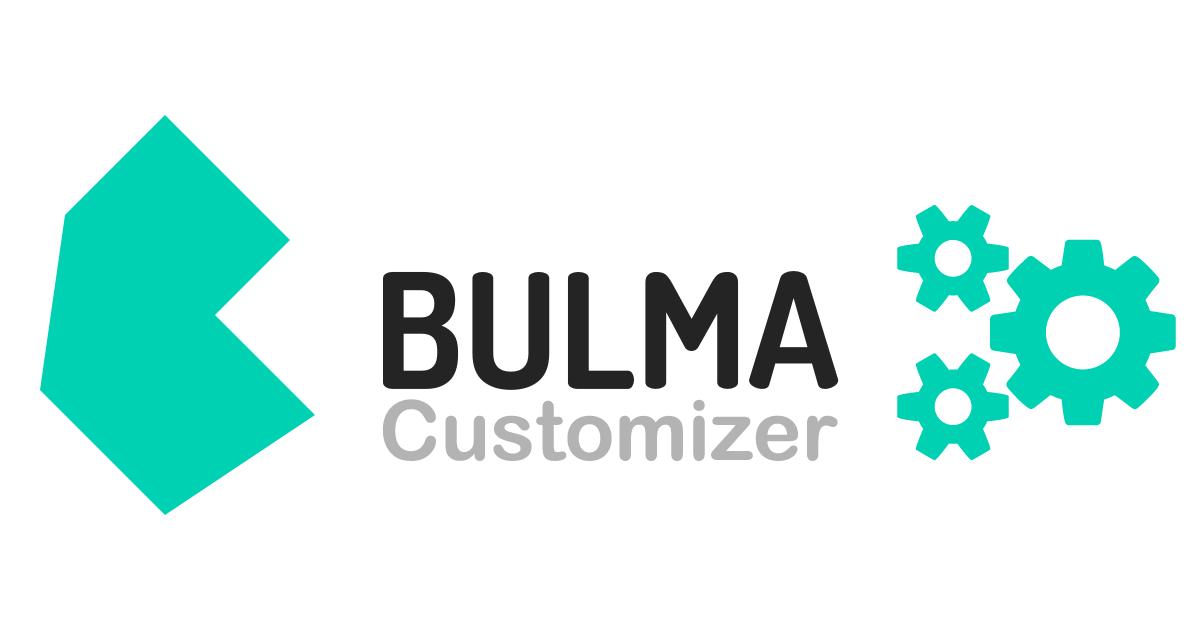 Bulma Customizer – Create your own bespoke Bulma build