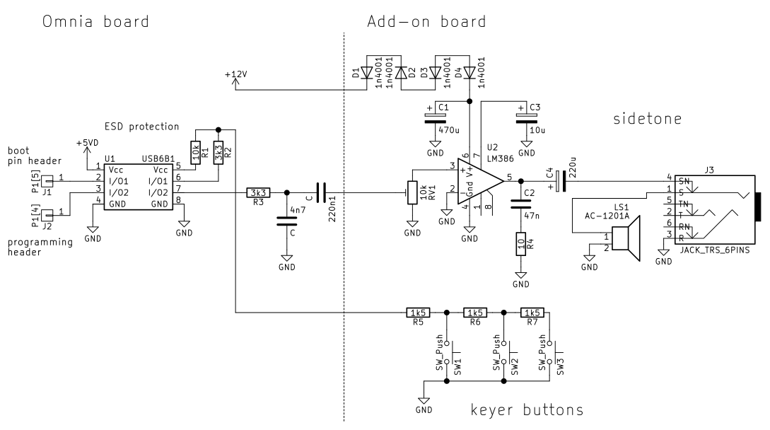 Add-on board schematic