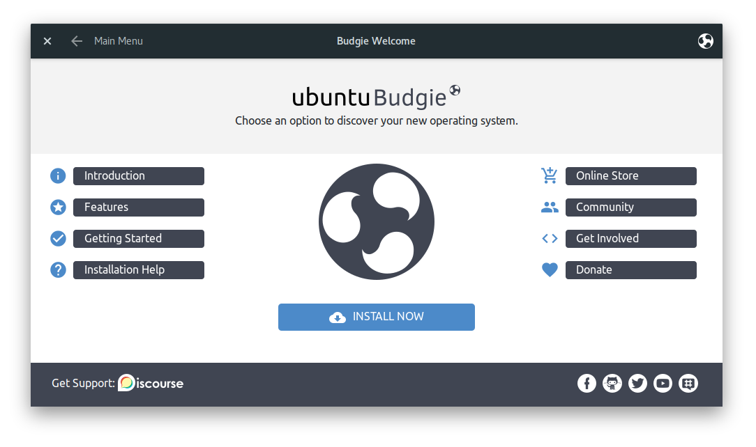 Screenshot of Budgie Remix Welcome App