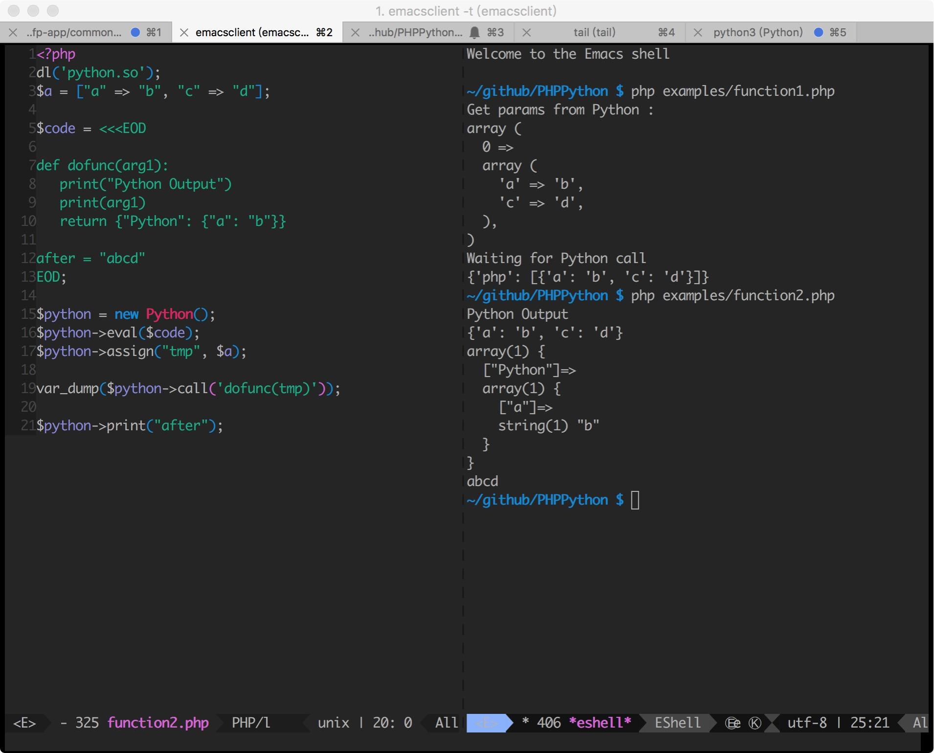 PHP Call Python Function