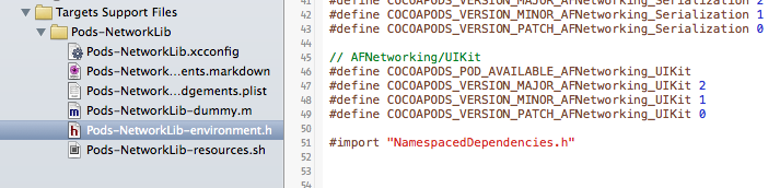 Add NamespacedDependencies.h to Pods