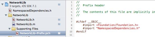 Edited NetworkLib-Prefix.pch to avoid collisions