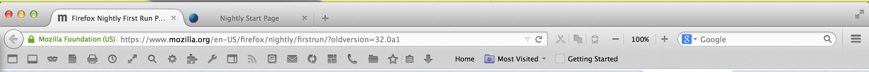 A shockingly busy toolbar