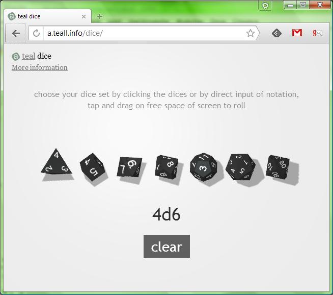 Online 3D dice roller