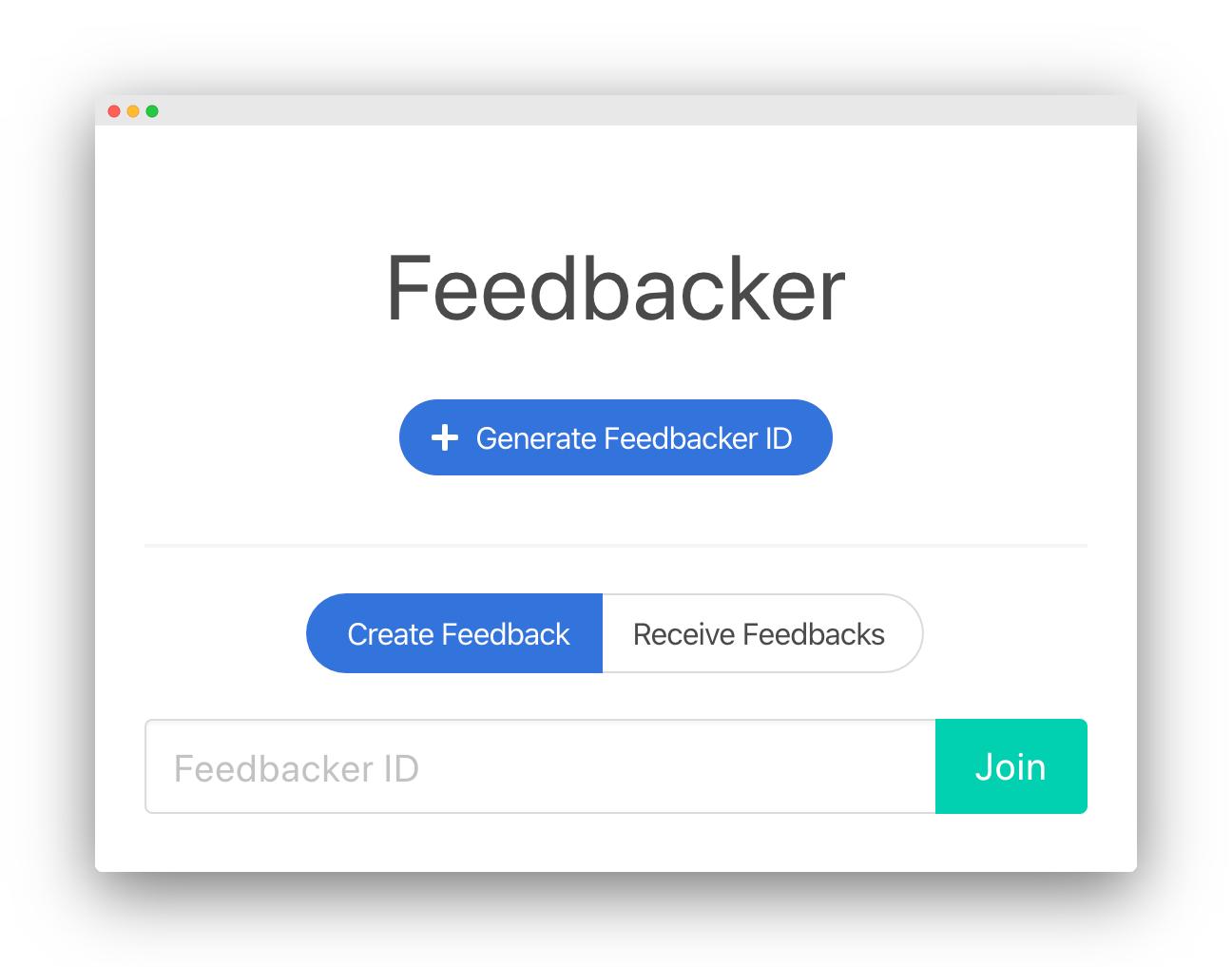 Feedbacker Screenshot