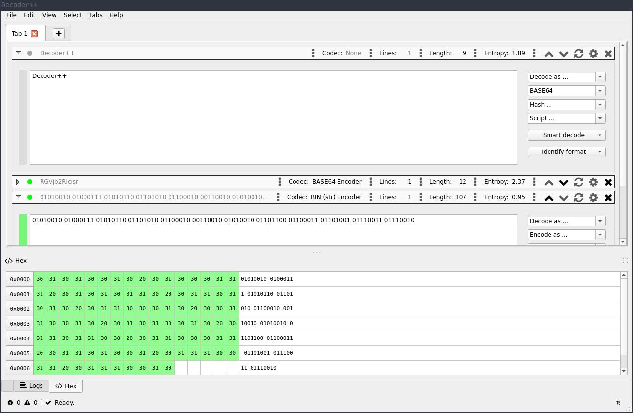 Decoder++ Screenshot