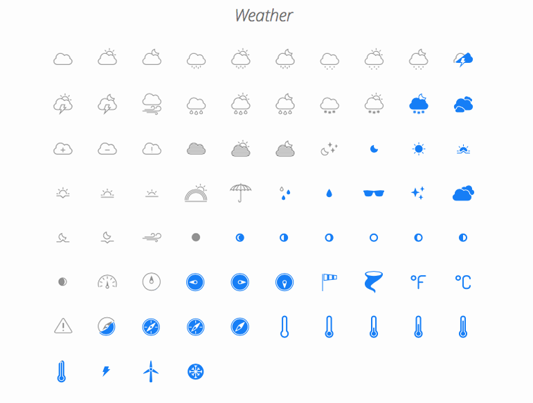 Wheather icons