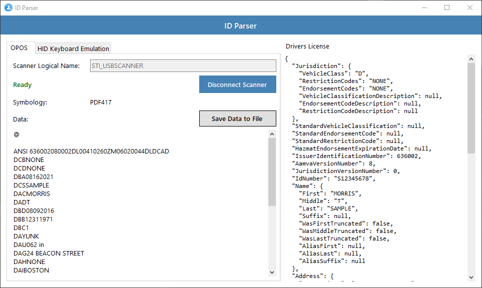 GitHub - c0shea/IdParser: Parses PDF417 AAMVA-compliant driver's