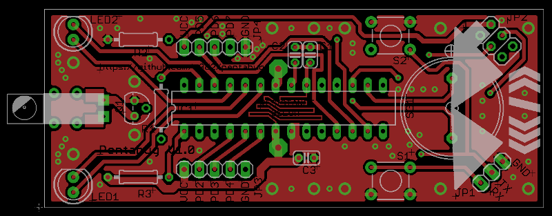Top Layer of Version 1.0 Board