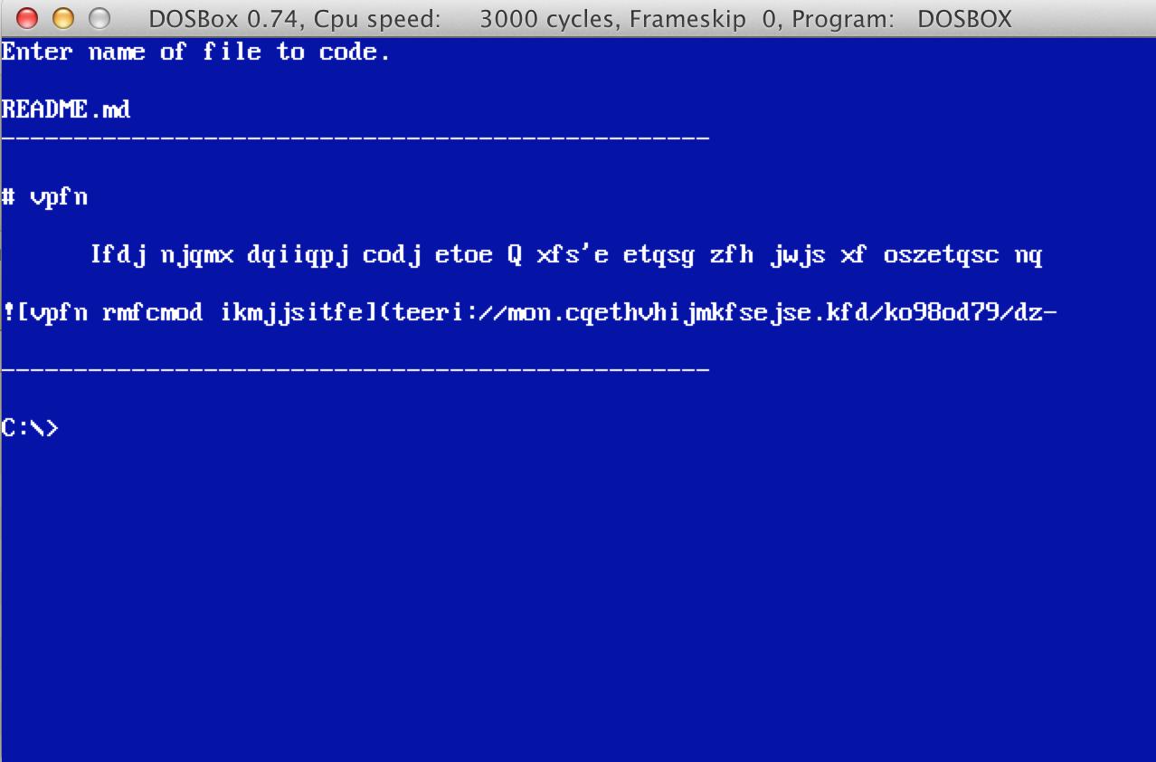 Code program screenshot