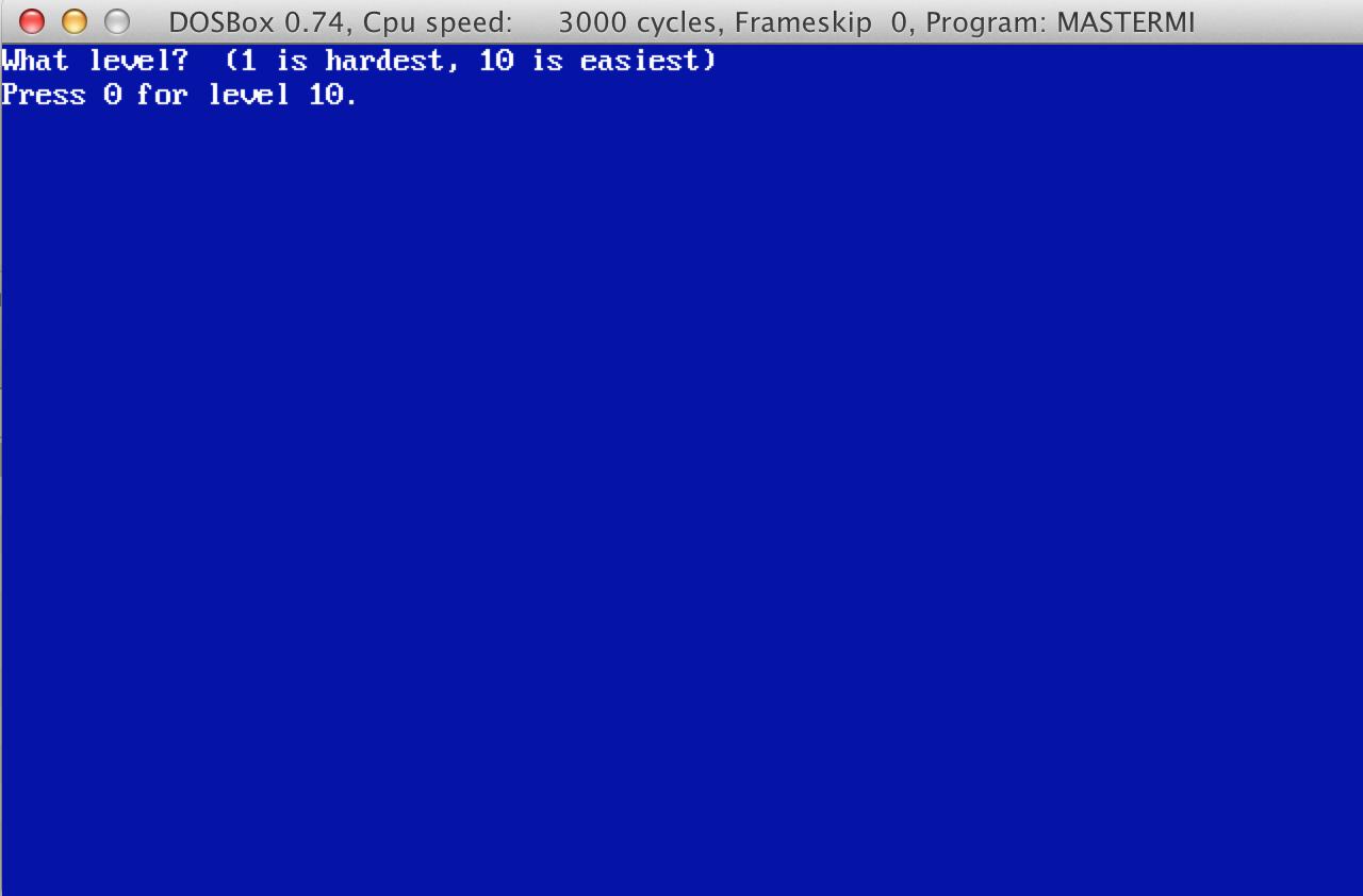 mastermind program screenshot