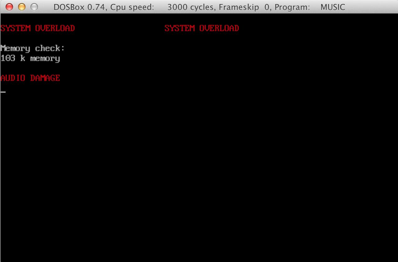 Music program screenshot