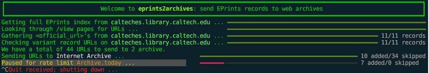 Screencast of simple eprints2archives
