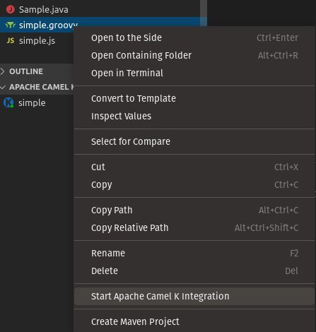 Start Apache Camel K Integration - ConfigMap list