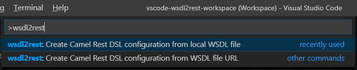 wsdl2rest in Command Palette