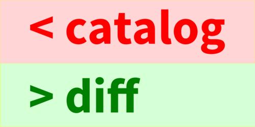 Catalog Diff