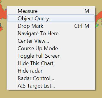 Radar context menu