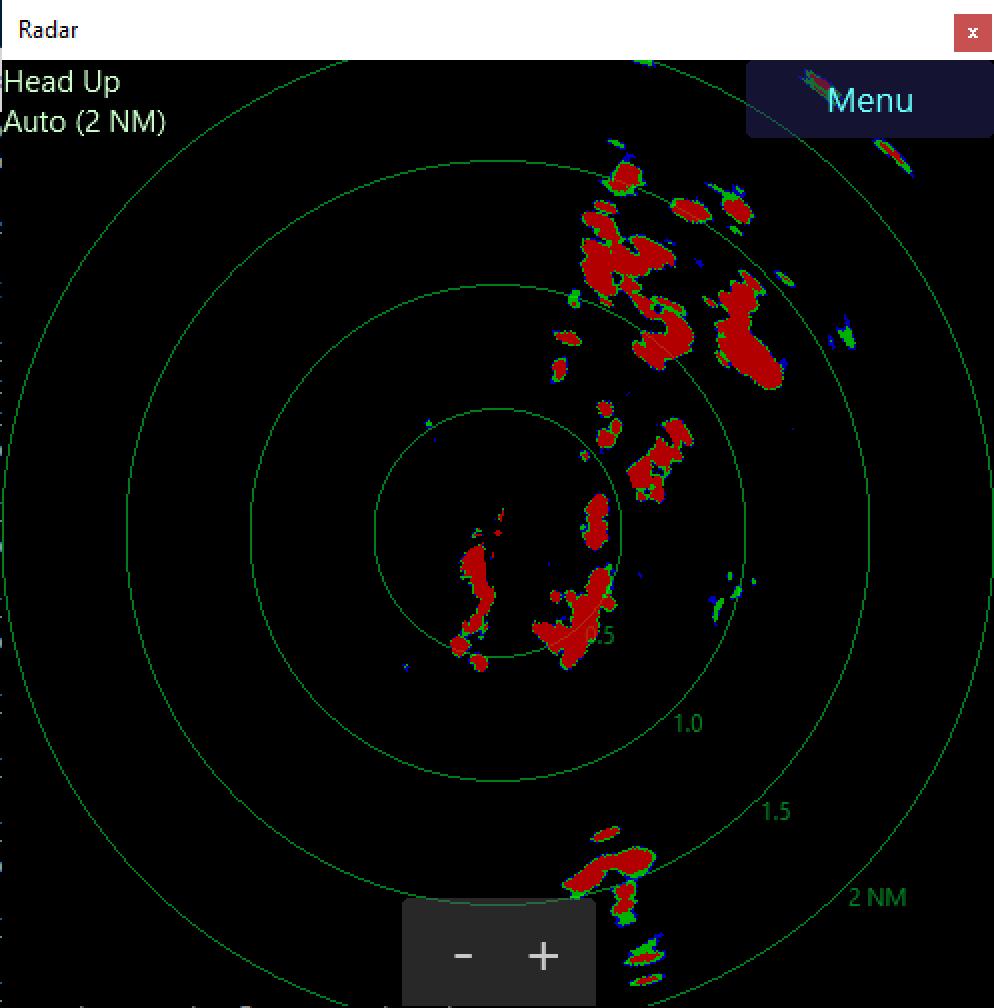Radar PPI window