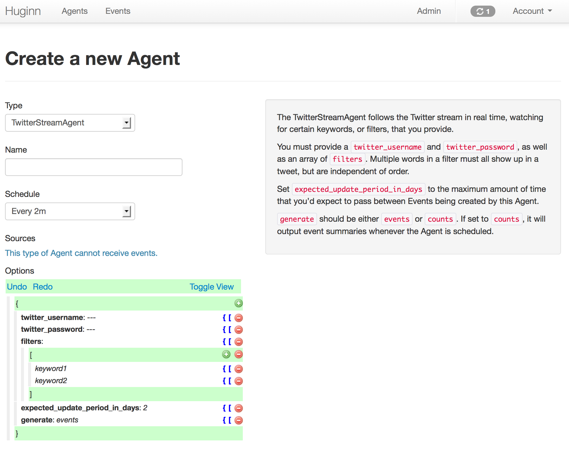 Making a new agent