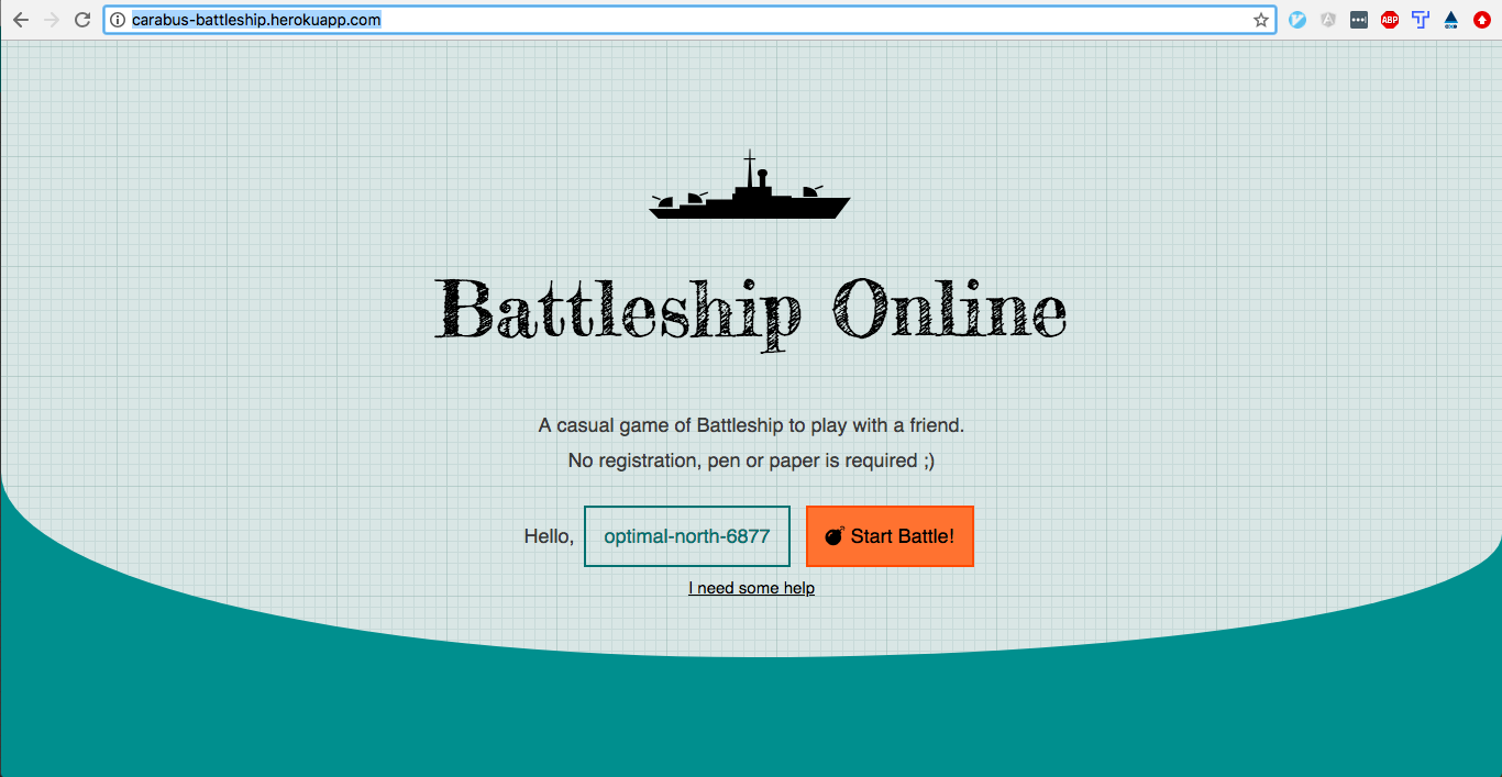 Github Carabus Battleship Online A Lightweight And Casual Game Of Battleship For 2 Players