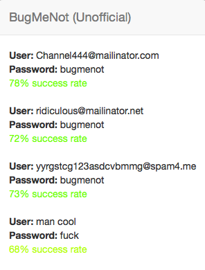 Chrome bugmenot DontBugMe