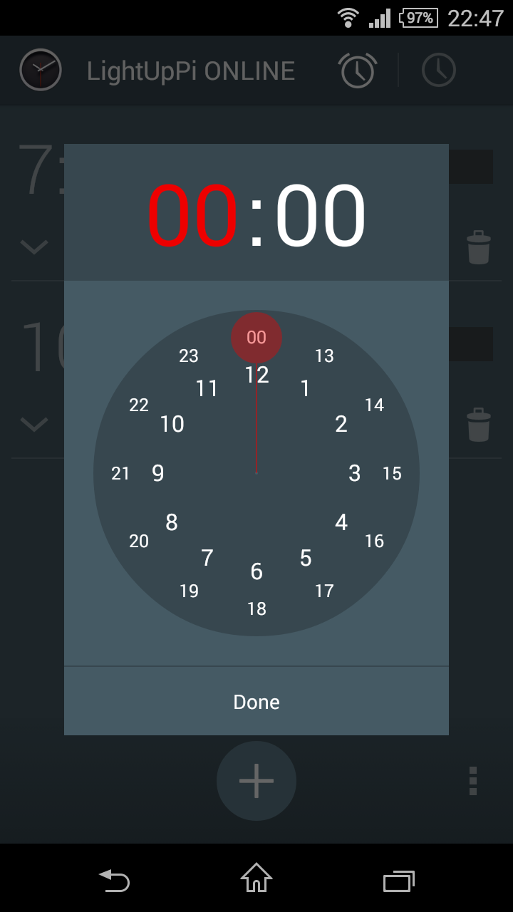 Timepicker Screen