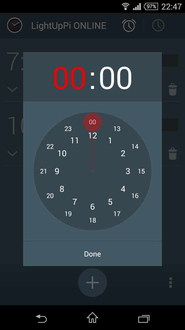 Timepicker Screen