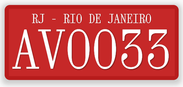 Brazil Two Letters Commercial License Plate