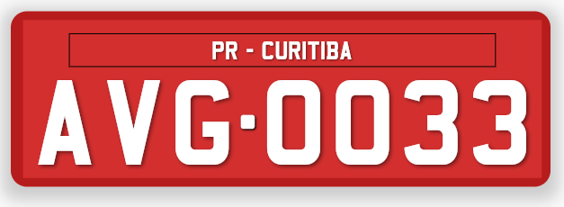 Brazil Three Letters Commercial License Plate