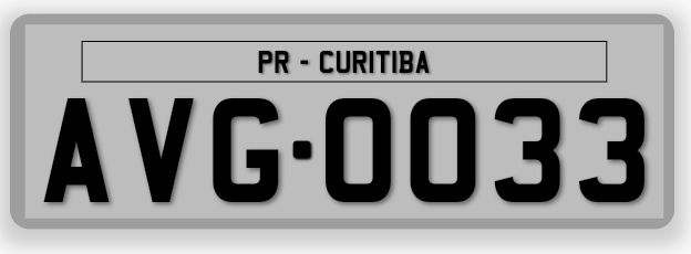 Brazil Three Letters Particular License Plate