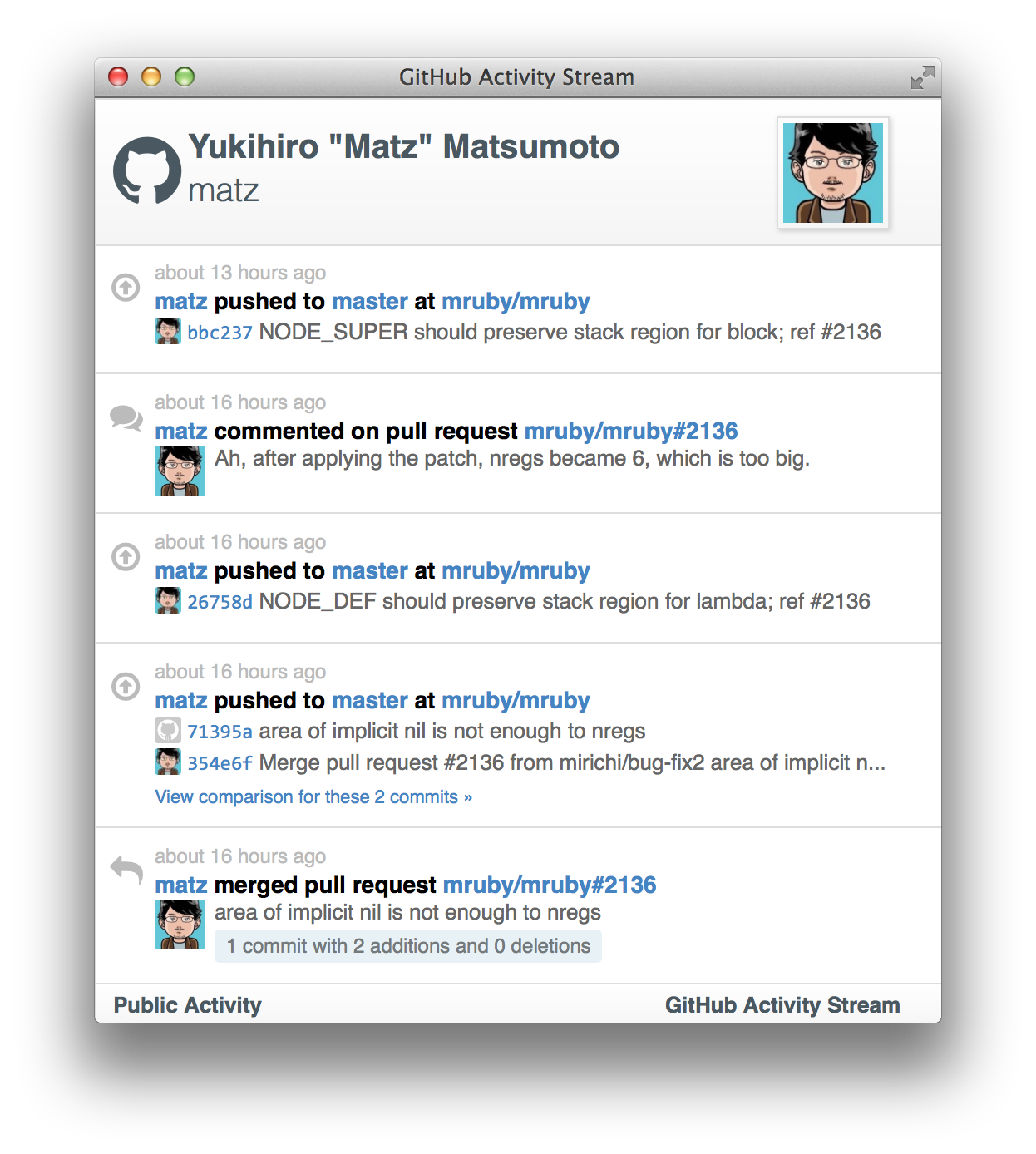 GitHub - caseyscarborough/github-activity: A widget for displaying