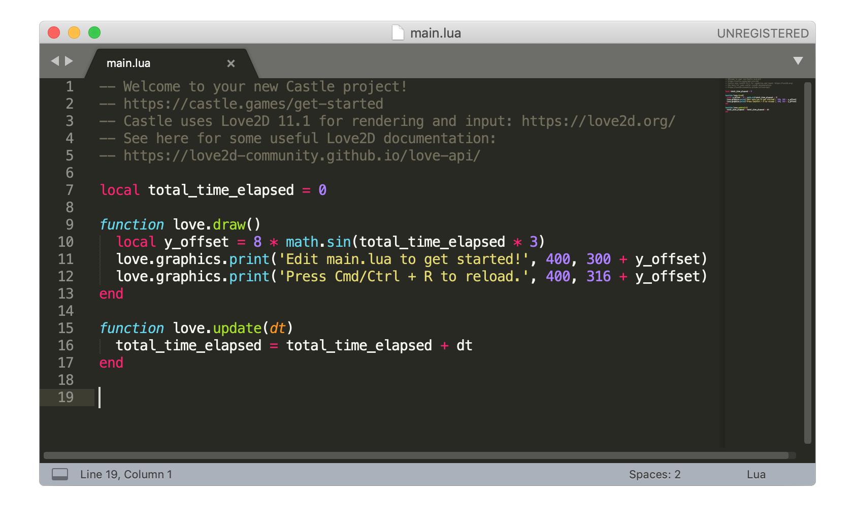 Initial code