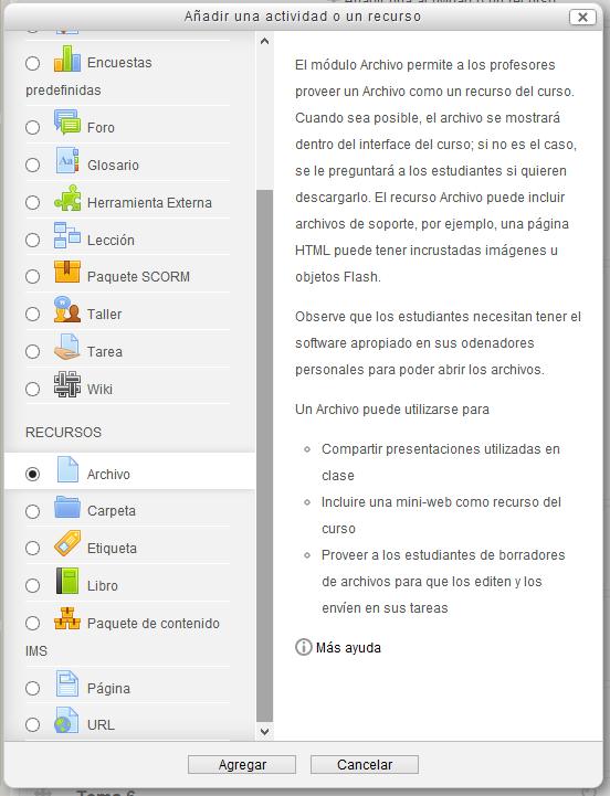 Fig Captura de pantalla de inserción de archivo