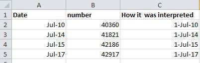 So, so ambiguous, it's even confusing Excel