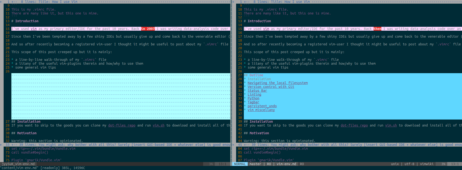 How I use Vim // Not Invented Here //