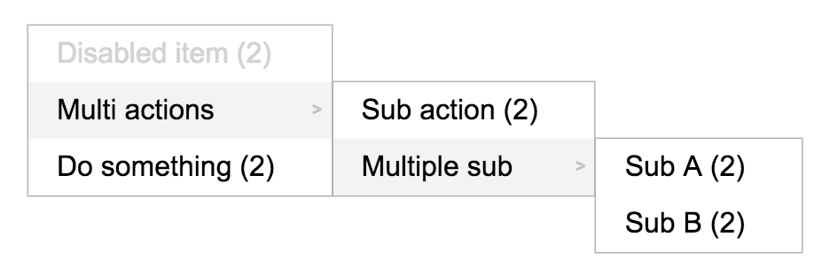 Example screenshot with multiple selection