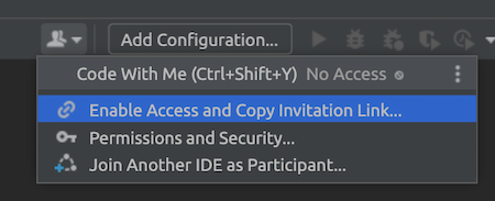 Enable access and copy link