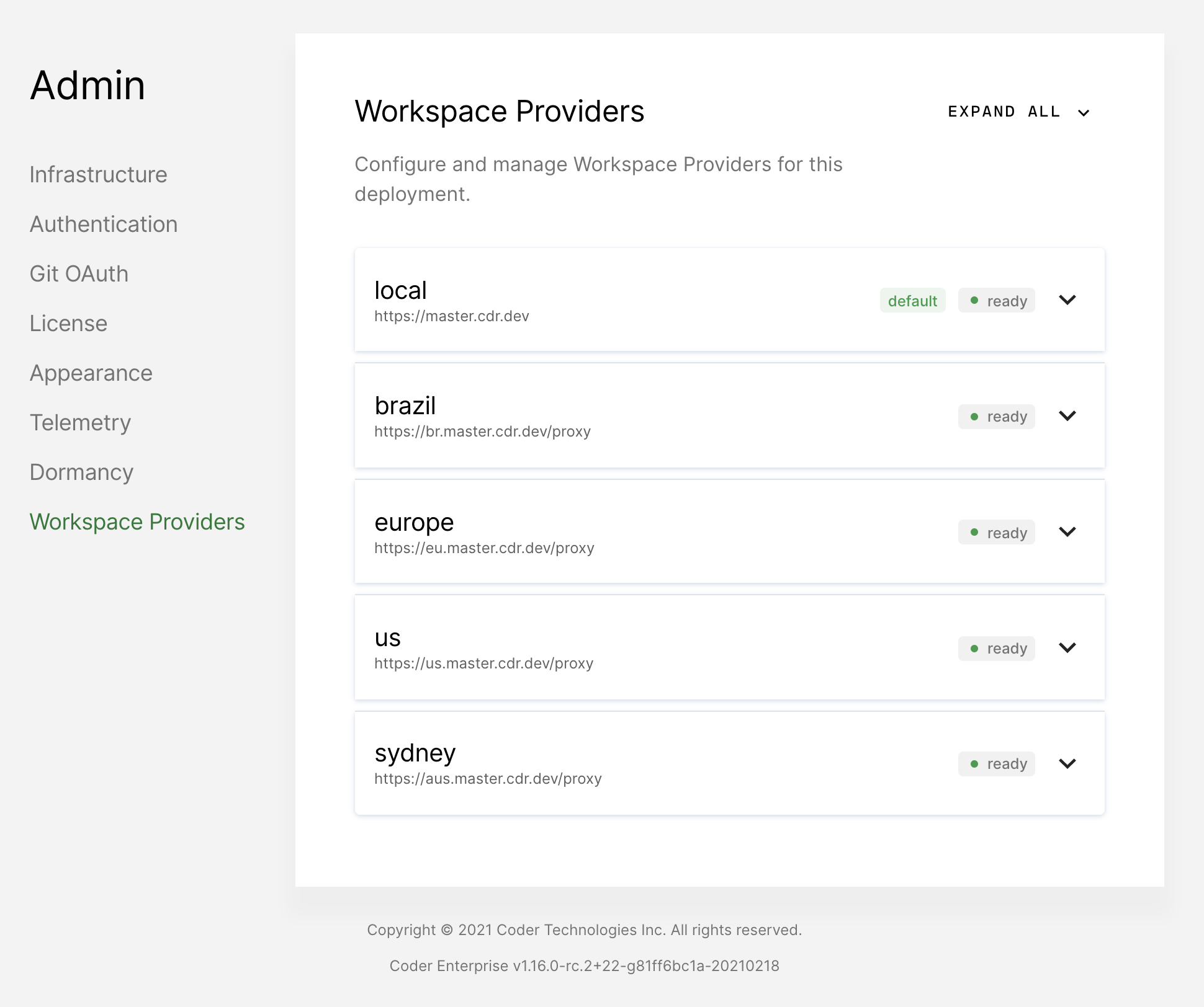Workspace providers
