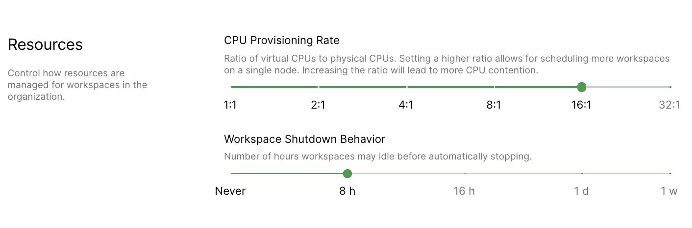 Configure shutdown behavior