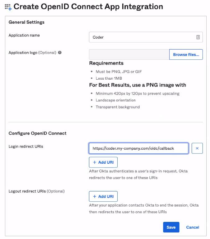 Okta Create OpenID Application