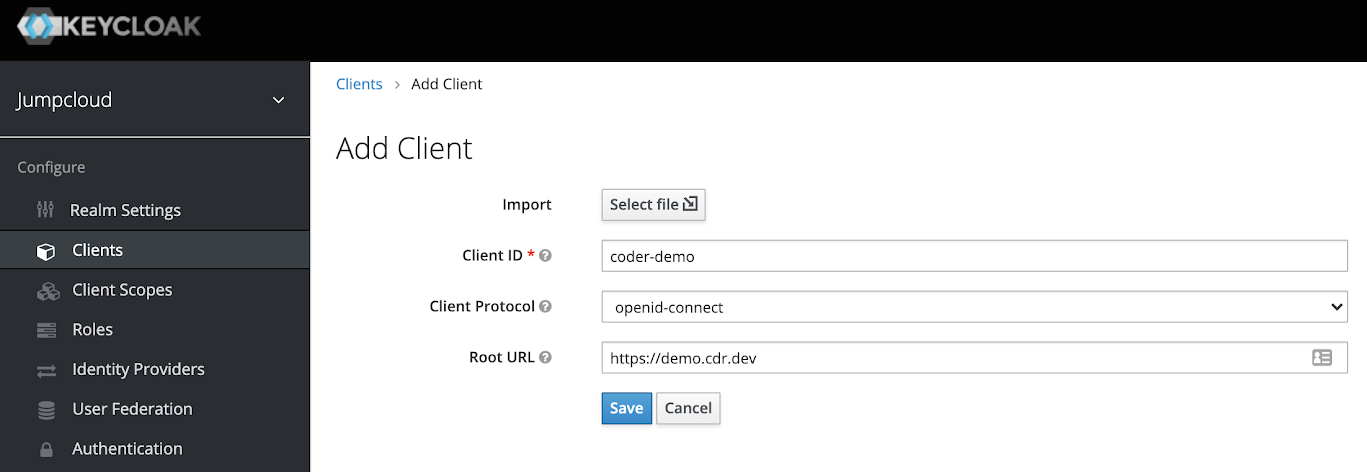 Add OIDC client