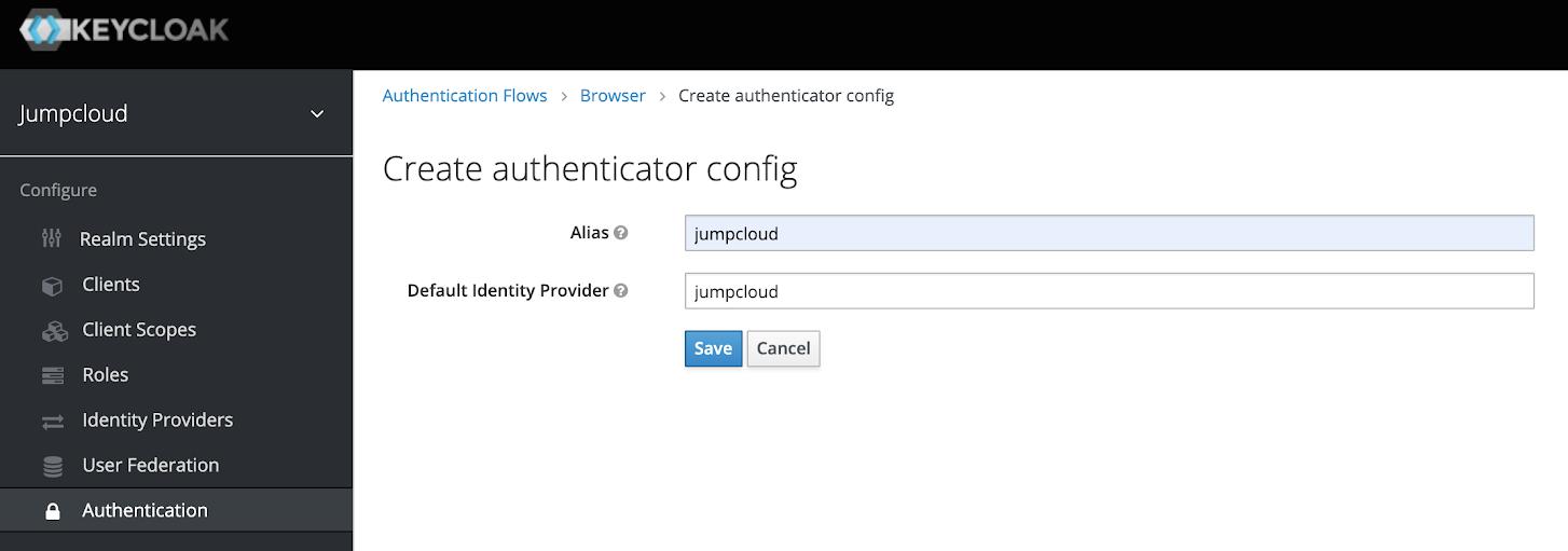 Authenticator Config