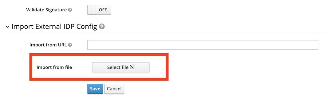 Keycloak metadata import
