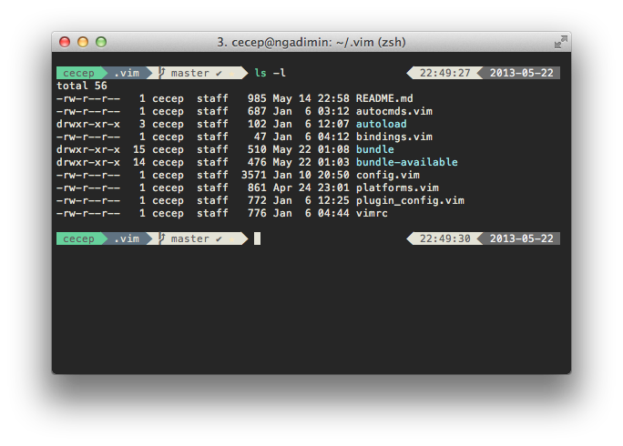 iTerm in action