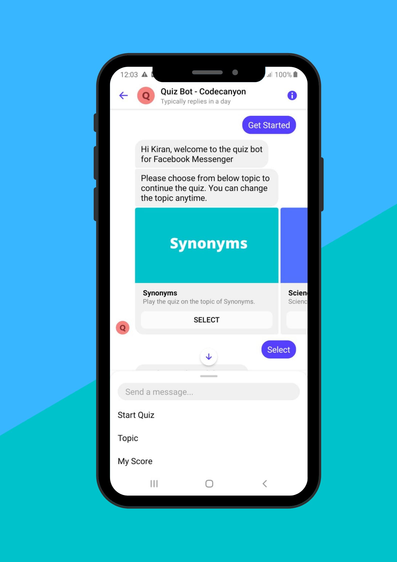 Quizy - Facebook Messenger Quiz Chatbot - 1