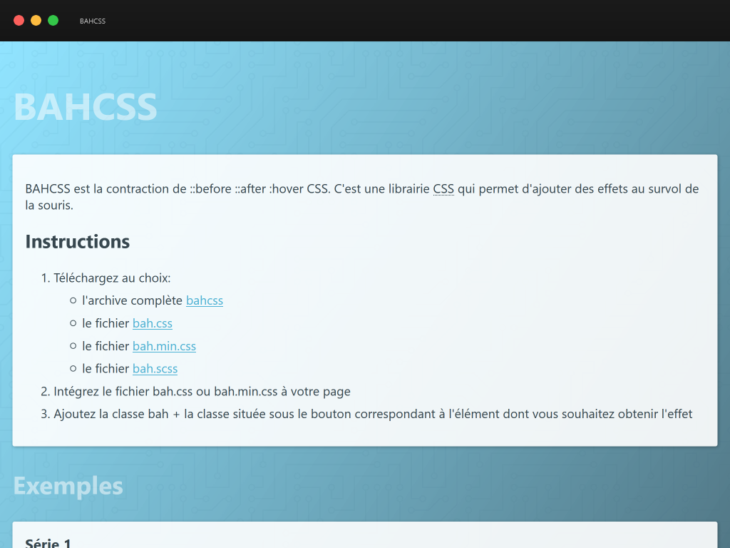 Capture d'écran de BAHCSS