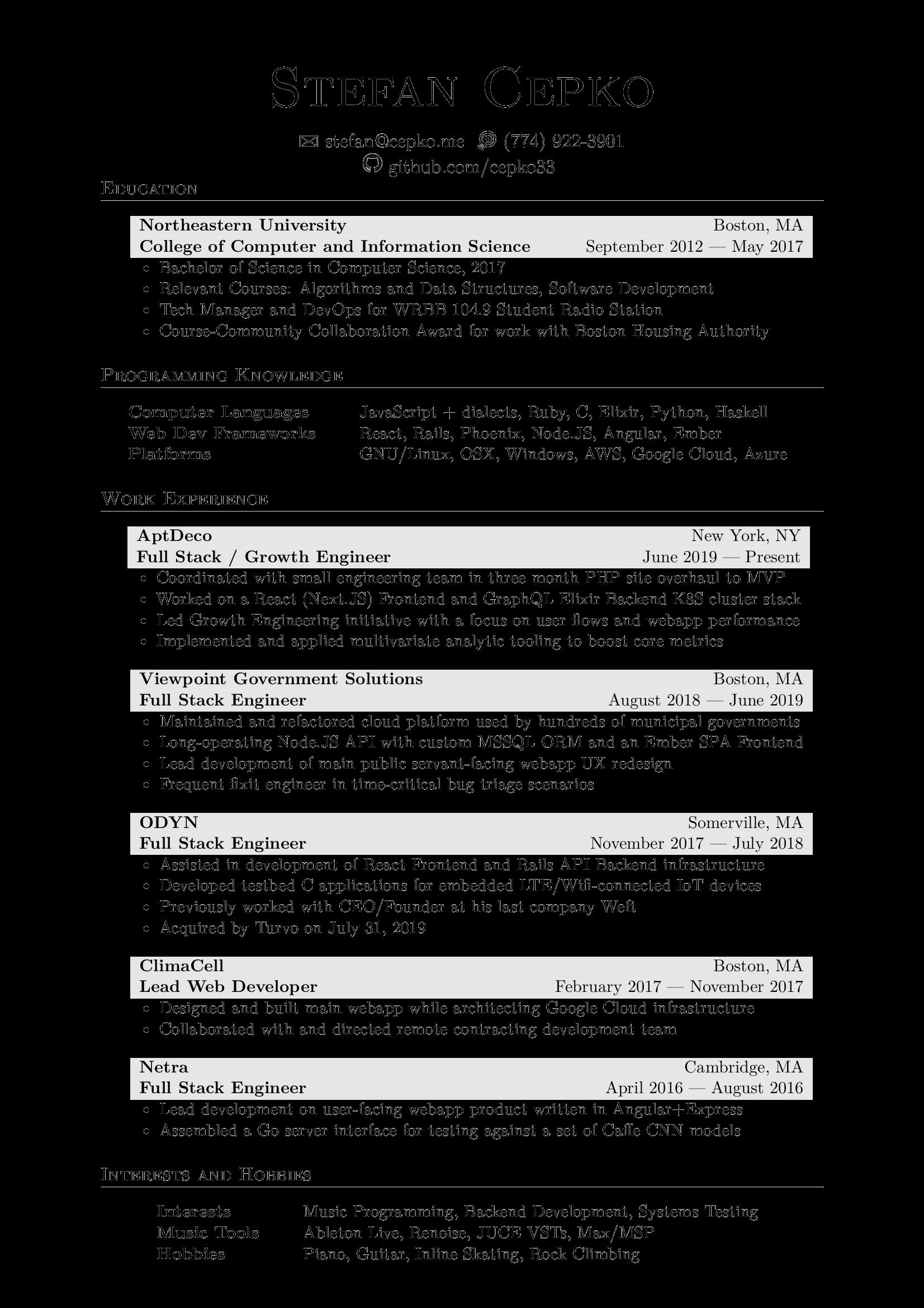 Resume Pdf Github - Resume Examples | Resume Template