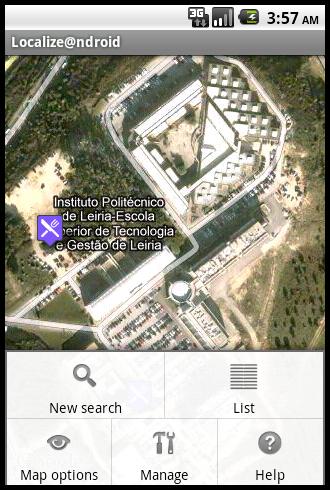 map options screen