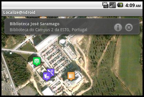 results map screen - landscape orientation