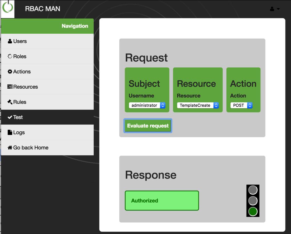 rbac-man test interface
